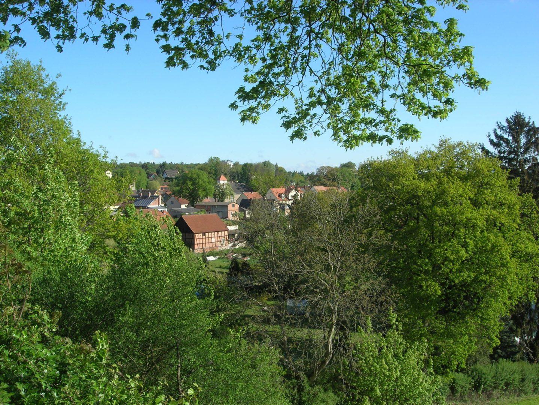 Blick auf den Fastenhof - Anfahrt zum Flecken Zechlin